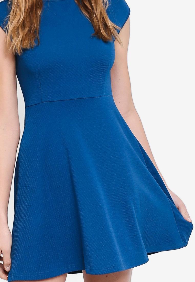 Cap ZALORA BASICS Teal Dress Sleeves Basic avxTwqPT