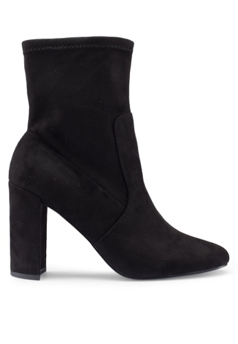 River Island 黑色 麂皮高跟踝靴 89879SHE059862GS_1