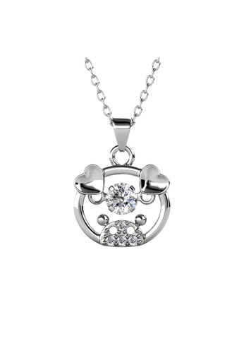 Her Jewellery silver 12 Dancing Zodiac Pendant (Pig) WG - Made with premium grade crystals from Austria D6326ACEE430EDGS_1