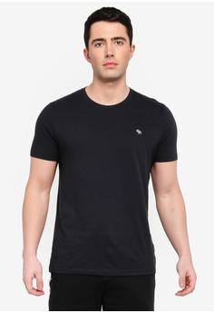 55b8f13032a8 Abercrombie   Fitch black Pop Icon Crew T-Shirt 9DC13AA070E310GS 1