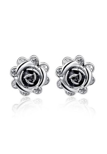 Memento Collection black Elegant Black Flower Detailed Earrings ME060AC72MAXMY_1