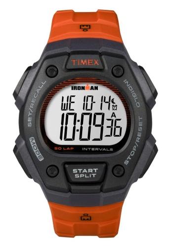 TIMEX orange Timex IRONMAN® Classic 50-Lap Full-Size - Orange/Black Resin Strap TI857AC56VZRSG_1