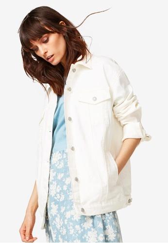 ESPRIT white Indoor Denim Regular Jacket A6FA7AA6E0DBB6GS_1