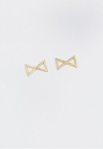 髮絲紋鏡射三角耳環, 飾品配esprit outlet件, 耳環