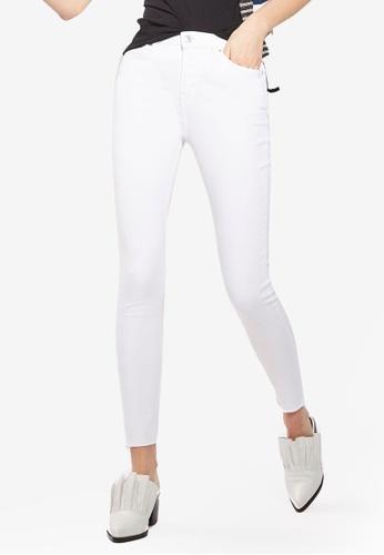 TOPSHOP white MOTO White Raw Hem Jamie Jeans TO412AA0SRQNMY_1