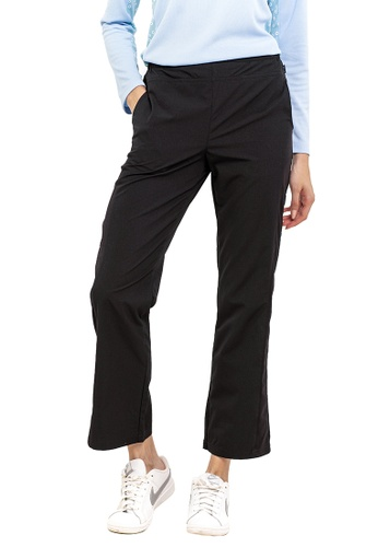 Huitieme black HUITIÈME WOVEN LONG EXERCISE PANTS. 06735AA3B80851GS_1