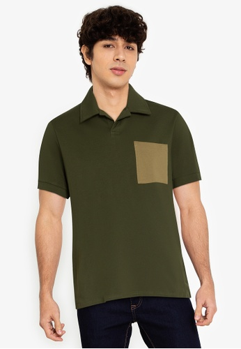 ZALORA BASICS multi Contrast Pocket Polo Shirt B5949AAF84C8A0GS_1