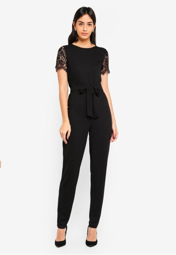 Vero Moda black Milla Fitted Jumpsuit C5A9AAAE141975GS_1