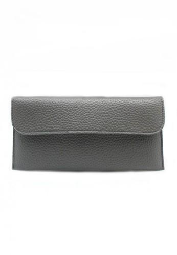 London Berry By HUER Daren Half Flap Slim Wallet