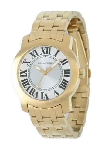 EGLANTINE gold EGLANTINE® Emile Unisex Gold Plated Steel Quartz Watch on Gold Plated Steel Bracelet D56DCAC2A6C4FFGS_1