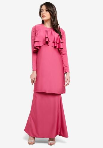 Dewi Sofiea pink Camelia Kurung DE406AA0S5DDMY_1