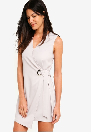 ZALORA grey Vest Dress With Oversized Eyelet Detail 192C8AA0557052GS_1