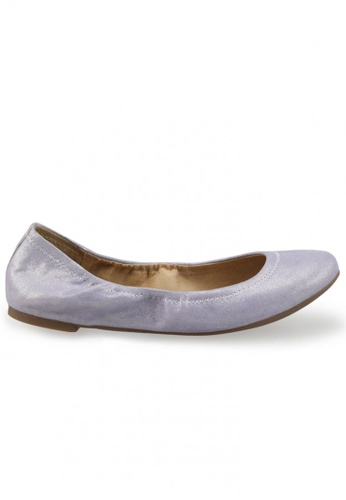 Shu Talk purple Metallic Sheepskin Suede Round Toe Ballet Flats SH617SH2USD7HK_1