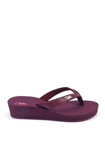 Ripples brown and purple Andre Classic Ladies Wedges RI425SH0G2YSSG_1