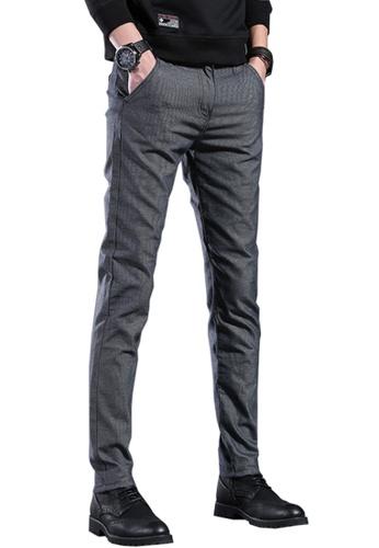 Twenty Eight Shoes grey VANSA Simple Slim Velvet Trousers VCM-P505V 61092AAED8A390GS_1