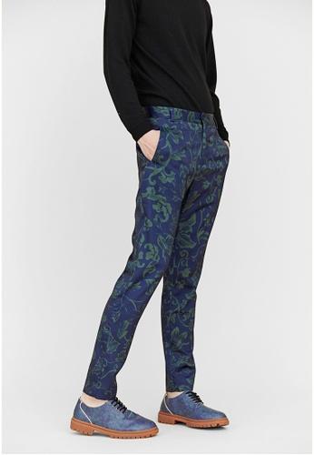 Life8 blue Life8 x Daniel Wong Printed Pants-03657-Blue LI283AA01COWSG_1
