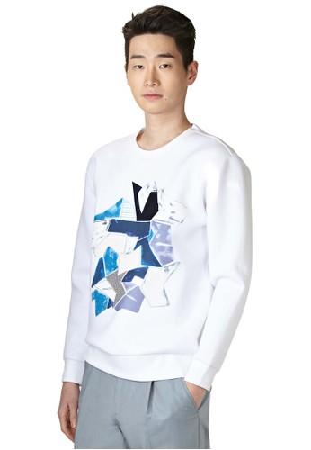 Neo 幾何圖形esprit hong kong 分店長袖衫, 服飾, 外套