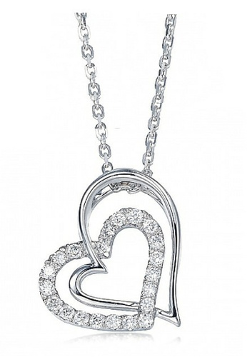 Vivere Rosse silver Love Cupid Necklace VI014AC75HDWMY_1