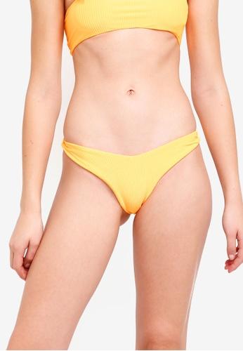 River Island orange Ribbed Bikini Bottoms 5874AUS8D4F3C8GS_1