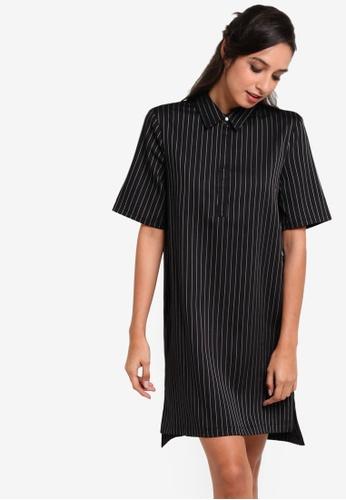 ZALORA black Collection Shirt Shift Dress 7FE57AA8D55247GS_1