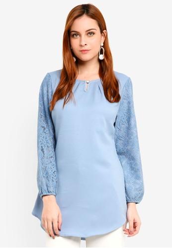 BYN blue Muslimah Blouse BF223AA7429502GS_1