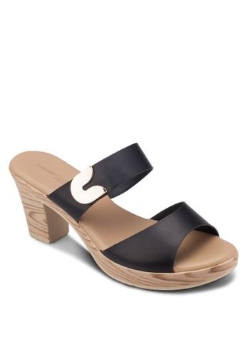 雙帶粗跟涼鞋, 女鞋, esprit台灣outlet鞋
