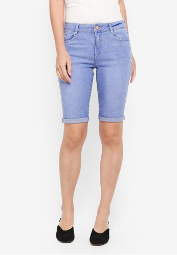 Blue Denim Shorts Size 8 From Dorothy Perkins Excellent Quality Women's Clothing