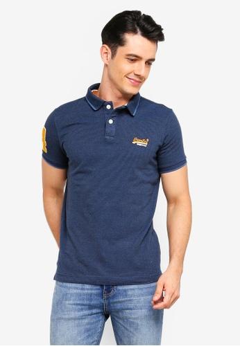 Superdry 海軍藍色 刺繡品牌細節POLO衫 25B83AA502CB0DGS_1