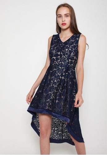 Leline Style blue Riley Lace Dress B4CCFAAFE5AEE0GS_1