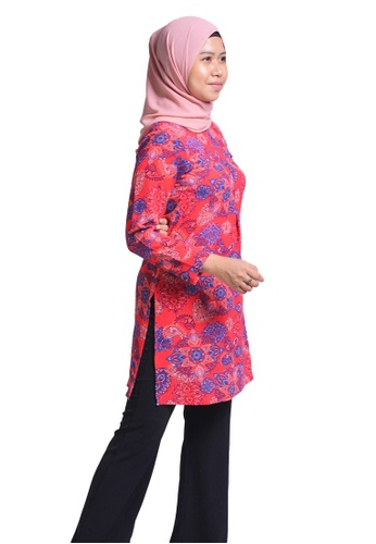 Imaan Boutique red Flared Blouse Bittersweet 37E73AA55D9696GS_1