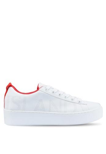 River Island 白色 綁帶運動鞋 DD1F8SH2A8490BGS_1