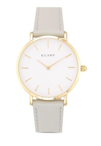 Klarf grey Petite Watch With Leather Bracelet 0A2AAAC95D1C29GS_1