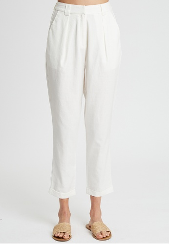 The Fated white Epitome Pants F063FAAF911450GS_1