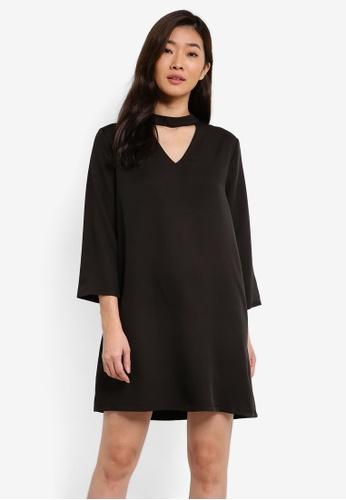 ZALORA black Essential Choker Shift Dress 0E79AAA3B77049GS_1