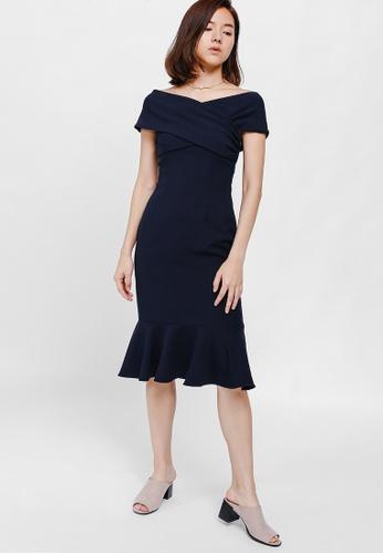 Love Bonito Blue Rosamonde Off Shoulder Trumpet Dress B16a8aa74efe05gs 1