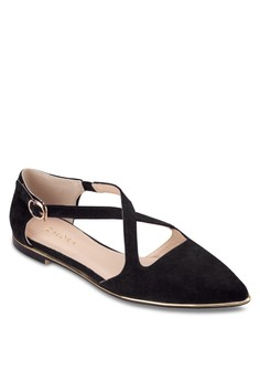 Cross Strap Pointed Ballerinas