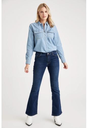 DeFacto blue Woman Denim Trousers 40929AADCE935AGS_1