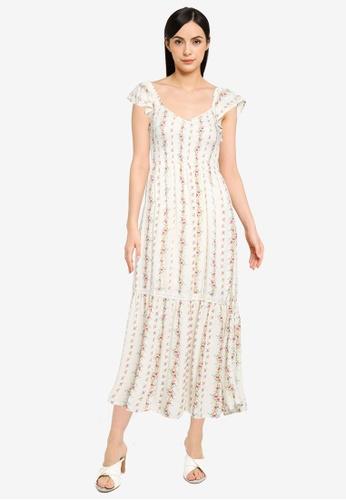 Springfield brown Long Smocked Dress 42923AA1775D7FGS_1