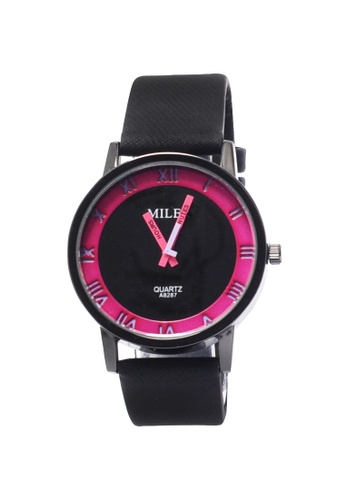 Stylebox pink Miler 1020 Roman Style Leather Watch 8CE96ACFDF3ECAGS_1