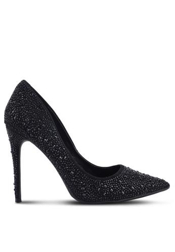 MISSGUIDED 黑色 鑽飾高跟鞋 2D256SH36A680AGS_1