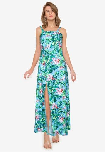Purple Shore multi Printed Long Dress 02AEAAAABABEF7GS_1
