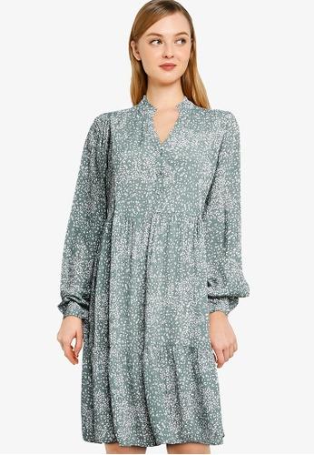 Vero Moda green Caitlynn Long Sleeves Shirt Short Dress F9AD3AA5BED897GS_1