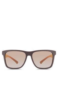 ba6eb05146 Boss Orange black Modern Squared Rubber Sunglasses BO434GL84HRZMY 1