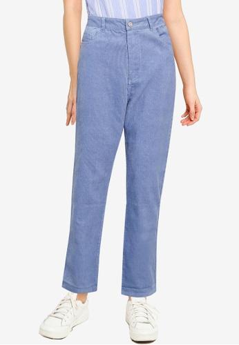 MISSGUIDED blue Cord Wrath Jeans 8D33DAAFC98C6BGS_1