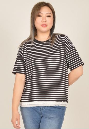 Cheetah black Arissa Plus Size Short Sleeve Top - ARS-9660 3A56BAAB003EC5GS_1