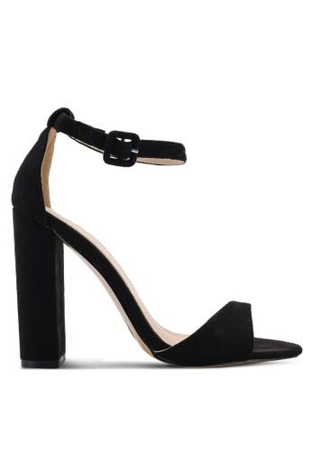 Public Desire 黑色 Rolo Toe Strap Detail Block 高跟鞋 E78B5SHC939399GS_1