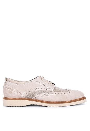 Florsheim beige Oracle Wing Tip Lace Up Formal Shoes 5E676SH03BB692GS_1