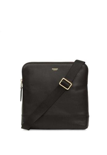 "knomo black Woodstock 8"" Leather Cross Body Bag (Black) 803C1AC64C8976GS_1"