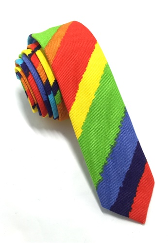 Splice Cufflinks Potpurri Series Rainbow Cotton Tie SP744AC68QNBSG_1