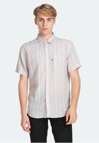 Levi's pink Levi's Short Sleeve Sunset One Pocket Shirt Men 86624-0006 28622AA3210B50GS_1